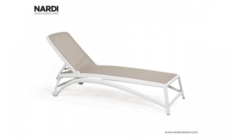 Шезлонг Nardi Atlantico Bianco Tortora 40450.00.104