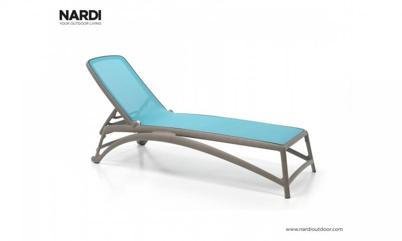 Шезлонг Nardi Atlantico Tortora Celeste 40450.10.075
