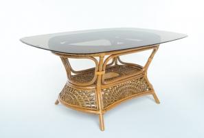 Обеденный стол Ацтека CRUZO (на 8 персон) натуральный ротанг, светло-коричневый, ok01368