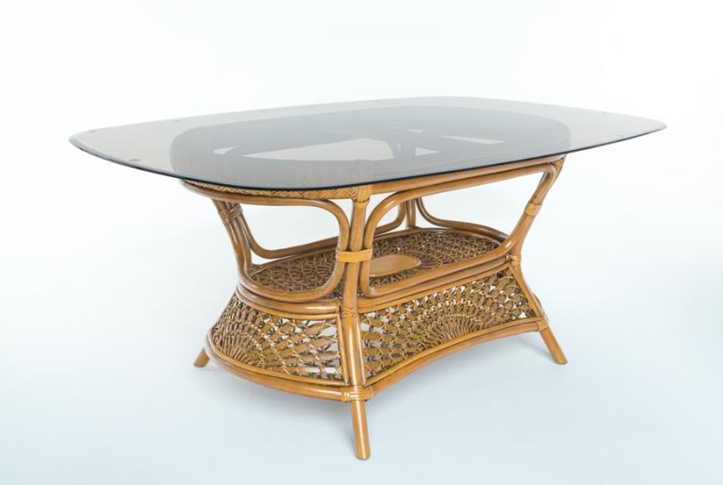 Обеденный стол на 8 персон Ацтека натуральный ротанг светло-коричневый, Cruzo™ ok01368