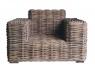 Крісло Бабл CRUZO натуральний ротанг, коричневий, bb0012