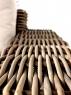 Диван Бабл CRUZO натуральный ротанг, коричневый, bb0011
