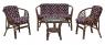 Комплект меблів Таврія CRUZO (софа, 2 крісла й столик) натуральний ротанг, горіховий, d0009
