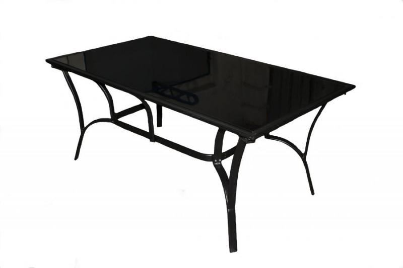 Обеденный стол CRUZO Бали металл / стекло, чёрный, st0004