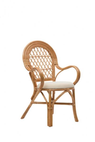 Кресло Бали CRUZO натуральный ротанг, коньяк, ba0002