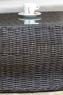 Стол кофейный Бавария CRUZO натуральный ротанг, темно-коричневый, st0007