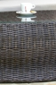 Стіл кавовий Баварія CRUZO натуральний ротанг, темно-коричневий, st0007