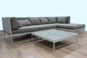 Модульный диван и столик для улицы CRUZO Берг поролон, устрица, d0005