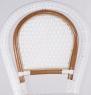Стул CRUZO Bistro Chair 2 натуральный ротанг медовый / белый s0007