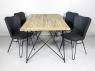 Обеденный комплект Бонни (стол 180x90 см и 4-6 стульев) тик, лум, металл, kt191020201
