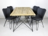 Обідній комплект Бонні (стіл 180x90 см і 4-6 стільців) тік лум метал kt191020201