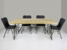Обеденный стол Саманта CRUZO (180x90 см) тик натуральный os0733