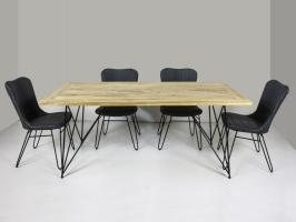 Обідній комплект Бонні (стіл 240x100 см і 4-6 стільців) тік лум метал kt191020202