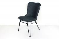 Плетений стілець Бонні CRUZO лум, сірий, sb10882