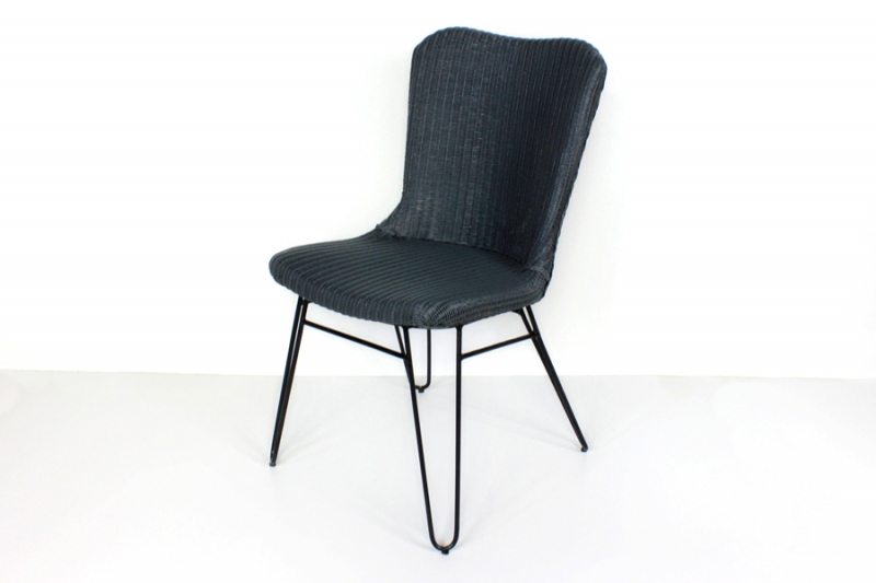 Плетеный стул Бонни CRUZO лум, серый, sb10882