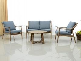 Комплект мебели Буки Сет CRUZO (софа, 2 кресла, стол) дерево тик km08205
