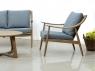 Комплект меблів Букі Сет CRUZO (софа, 2 крісла, стіл) дерево тік km08205