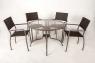 Обеденный стол Браун Стил металл коричневый, Cruzo™, st0015