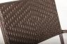 Стул Браун Стил CRUZO искусственный ротанг, коричневый, s0008