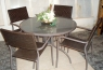 Обеденный комплект Браун Стил CRUZO (стол +4 стула), коричневый, ok0004