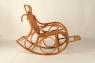 Кресло качалка Чабби CRUZO натуральный ротанг, светло-коричневый, kk0012