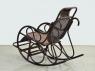 Кресло качалка Чабби CRUZO натуральный ротанг темно-коричневый kk0422