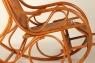 Кресло качалка CRUZO Чабби натуральный ротанг медовый kk0012