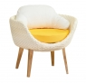 Обідній комплект Ай CRUZO (стіл і 5 крісел) штучний ротанг білий ok0003
