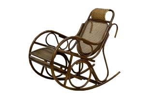 Кресло-качалка CRUZO Чабби натуральный ротанг коричневый kk0008