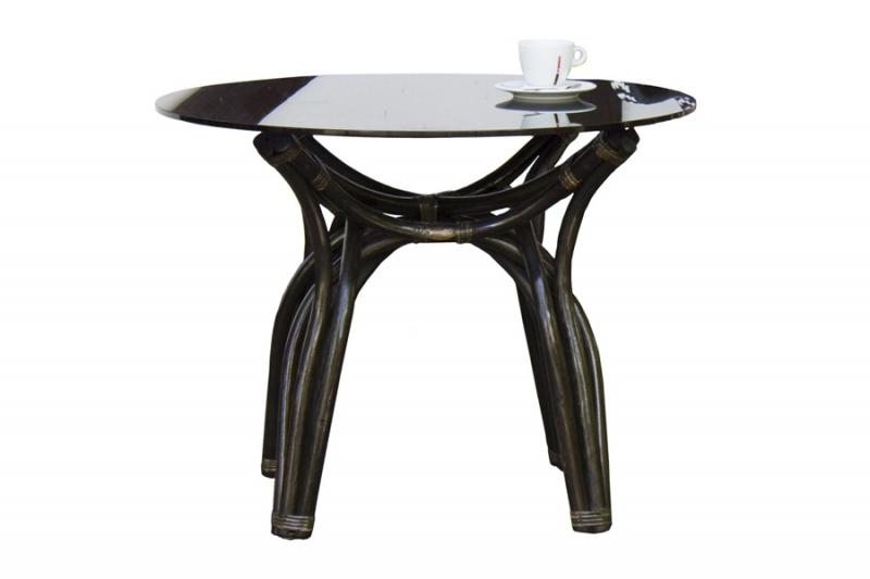 Кофейный стол CRUZO Самбир натуральный ротанг, коричневый, st0005