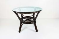 Обеденный стол Келек CRUZO натуральный ротанг кофе kl0300