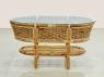 Плетеный комплект мебели Копакабана Гиацинт CRUZO (софа, 2 кресла и столик) натуральный ротанг, km08203