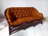 Комплект плетених меблів з натурального ротангу Копакабана-3 диван, 2 крісла й кавовий столик темно-коричневий CRUZO km08204