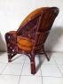 Комплект плетеной мебели из натурального ротанга Копакабана софа, 2 кресла и кофейный столик темно-коричневый CRUZO d0014