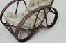 М'яке лаунж-крісло з пуфом Крузо Сет з натурального ротангу колір горіховий CRUZO kr0007