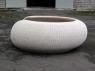 Садовий диван Нест Ай зі штучного ротангу білого кольору CRUZO ei0408