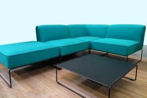 Модульный диван и столик для улицы CRUZO Диас поролон зеленый d0006