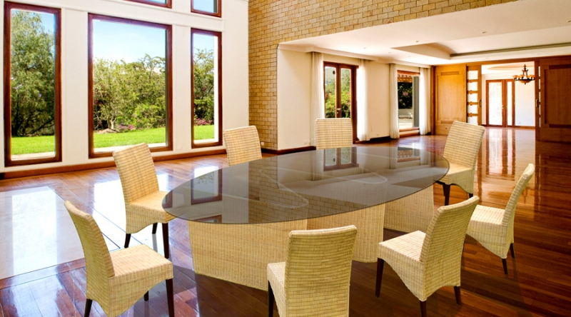 Обеденный комплект CRUZO Дрезден (стол +8 стульев) натуральный ротанг медовый ok0015