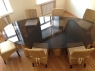 Обеденный комплект CRUZO Дрезден (стол +8 стульев) натуральный ротанг, медовый, ok0015