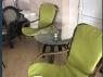 Комплект крісел Дрім 2 шт з зеленими подушками коричневий ok0010
