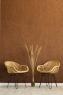 Обіднє крісло Нікі з натурального ротангу світло-коричневого кольору, CRUZO kn1847