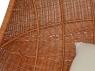 Підвісне крісло-кокон Ег CRUZO натуральний ротанг світло-коричневий pk08215