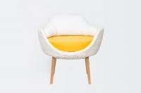Кресло Ай CRUZO искусственный ротанг, белый, kr0020