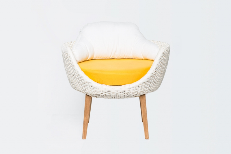 Кресло CRUZO Ай искусственный ротанг белый kr0020