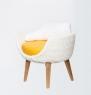 Кресло Ай CRUZO искусственный ротанг белый kr0020