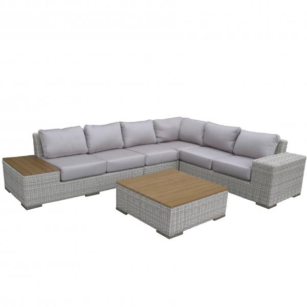Комплект садовой мебели Эль CRUZO искусственный ротанг, серый, el0001