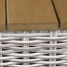 Комплект садових меблів Ель CRUZO штучний ротанг, сірий, el0001