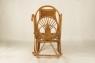 Кресло качалка CRUZO Импайр натуральный ротанг медовый (kk0007)