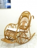 Кресло качалка Импайр CRUZO натуральный ротанг, медовый, kk0007