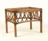 Приставний столик Феофанія CRUZO натуральний ротанг, горіховий, st0012f